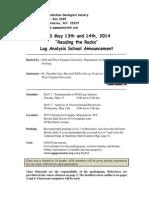 Log Analysis Seminar Mtg Announcement