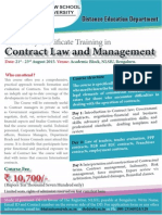 NLSIU's 3 Day Contract Law Course