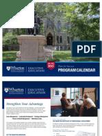 Executive Education Program Calendar