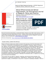 Teacher Effectiveness and Professional Learnig