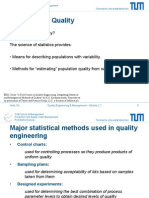 Statistics for Quality