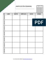 Planificador Semanal Educacic3b3n Secundaria Para El Alumno