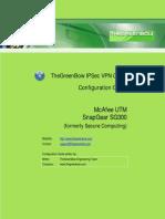Mcafee Snapgear SG300 VPN gateway & GreenBow IPSec VPN Client Software Configuration