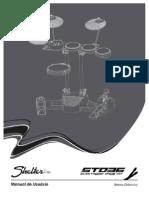 Manual Bateria Eletronica Shelter STD 36 - Português BR