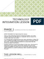 technology integration lesson
