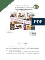 Constructivismo, Ensañanza y Aprendizaje(Ensayo)