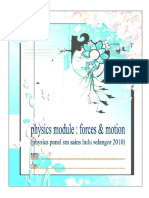 Physics Module Forces & Motion
