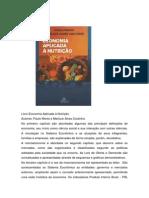 Livro Economia Aplicada à Nutrição