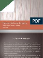 Factores Del Error Humano
