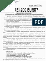 Ajutor Financiar Studenti 200 EURO