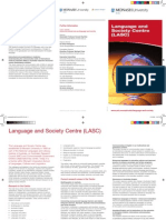 Language and Society Centre - Brochure 2010