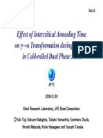 Effect of Intercritical Annealing Time on γ→α Transformation during Cooling in Cold-rolled Dual Phase Steels.ppt