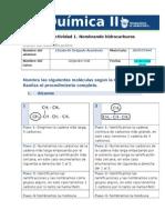 MIV U1 Actividad 1 Nombrando Hidrocarburos Quimica II