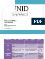 Cuadro Comparativo Avisos al IMSS