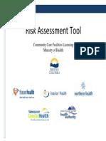 Risk Assessment Tool Manual