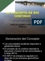 El Concepto de Rio Continuo