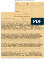Carta Apostólica Porta Fidei (Puerta de La Fe)