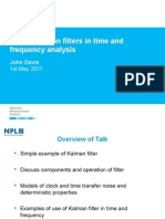 Use of Kalman Filters in Time and Frequency Analysis