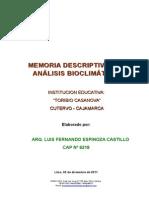 ESTUDIO BIOCLIMATICO