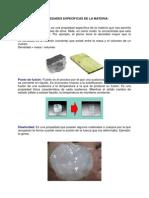 Propiedades Específicas de La Materia