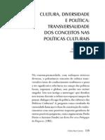 3- Cultura, diversidade e polÃ-tica transversalidade dos conceitos nas polÃ-ticas culturais