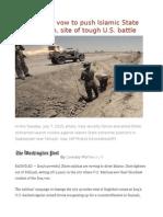 Iraqi militias vow to push Islamic State from Fallujah, site of tough U.S. battle.odt