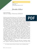 Wedgwood-Scanlon on Double Effect