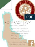 Rotaract SVP Flyer
