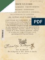 Índice de Libros Prohibidos Del Siglo XVIII