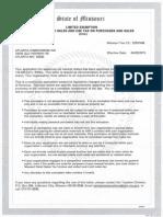 Atlanta Homecoming Sales Tax Letter