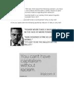 Racism Activity