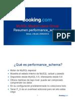 Performance Schema Resumen Espanol
