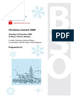Programme for a 2009 Concert
