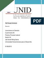 Actuaciones en Derecho Procesal del Trabajo