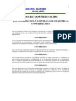 Reforma Códidgo de Trabajo Dto 18-2001