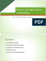 História de Roma e da língua latina - A República