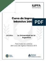 La Universidades en la Argentina.
