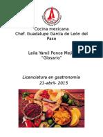 Glosario de cocina mexicana