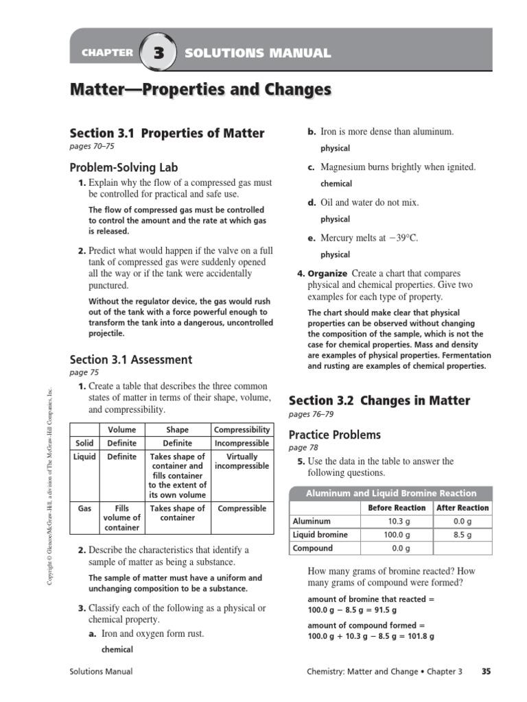 Chapter 3 Assessment Mixture Chemical Substances