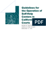 2008 Zelon- Guidelines for the Operation of Self Help in California Trial Courts