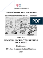 Modulo Demanda Social y Mark Educativo