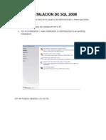 Instalacion de SQL 2008r2