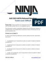 AICPA Released Questions AUD 2015 Difficult