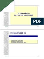 Diseño Básico de Plantas de Proceso