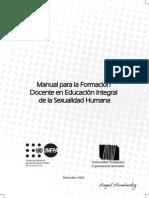 Manual Para La Formacion Docente en Educacion Integral de La Sexulidad Humana UPEL