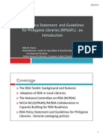 RDA policy statement and guidelines for Philippine libraries