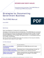 Strategies for Documenting Government Business- The DIRKS Manual