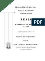 Portada tesis Mitos fundacionales mayas