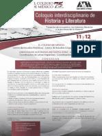 Coloqio Historia Literatura