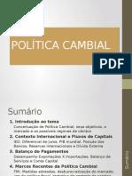 Política Cambial - Economia Brasileira 2014
